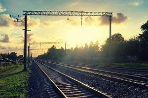 Railway. Riga. Latvia