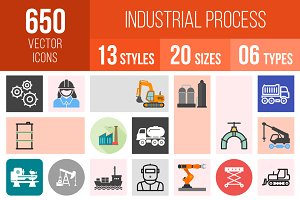 650 Industrial Process Icons
