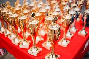 gold cups rewarding of winners
