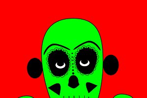 Skull vector background vector