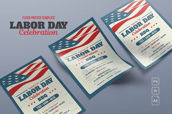 Labor Day Flyer-Poster Template