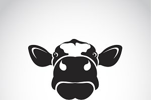 Vector image of a cow head.