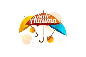 Autumn Sale Card. Vector