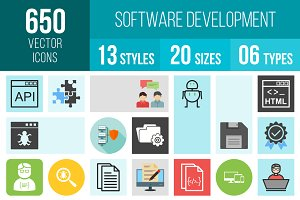 650 Software Development Icons