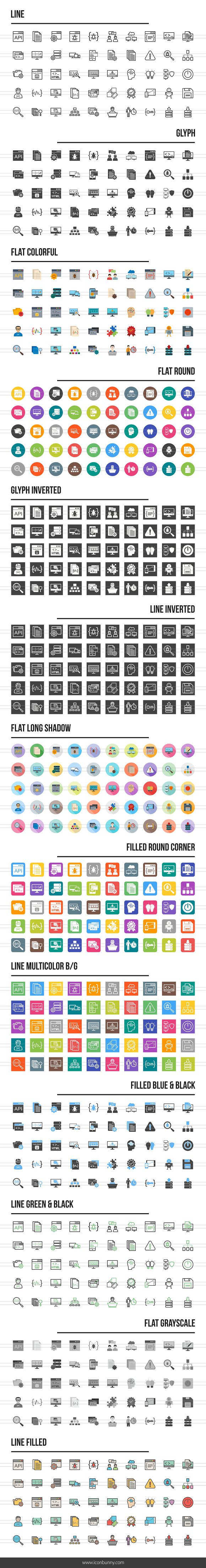 650 Software Development Icons