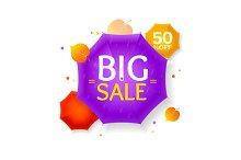 Big Sale Autumn Umbrella Label