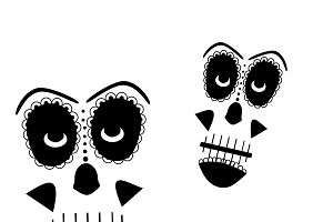 Skull vector background white