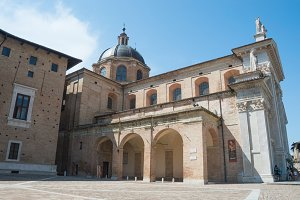 Cathedral in Urbino Italy