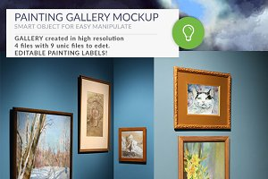 Gallery Mockups Posters HD