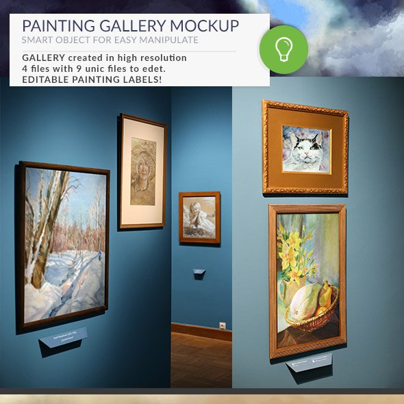 Gallery Mockups Posters HD ~ Product Mockups ~ Creative Market