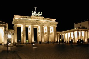 Brandenburger Tor Berlin at night