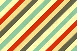 Diagonal stripes in retro colours