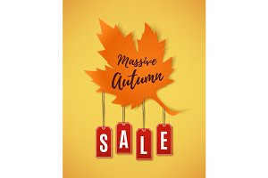 Autumn sale abstract banner.