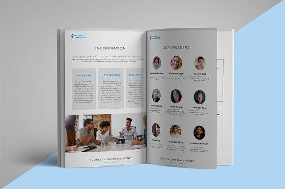 conference agenda brochure brochure templates creative market