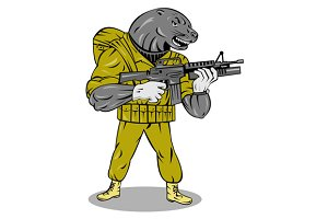 Alien Military With Gun