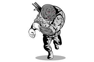 Alien Military Running