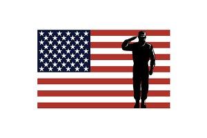 American Solder Serviceman Salute