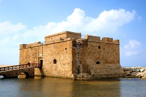 Old fort in Paphos, Cyprus