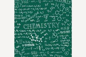 Seamless Chemistry Formula Pattern