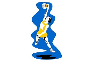 Netball Player Rebounding