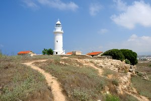 Old lighthouse in Paphos, Cyprus