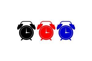 Alarm Clock Black Red Blue