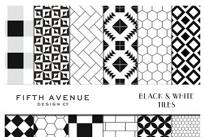 Black & White Tiles - Digital Paper