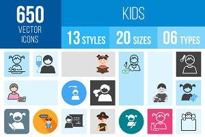 650 Kids Icons