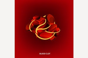 Blood  Clot Vector Image