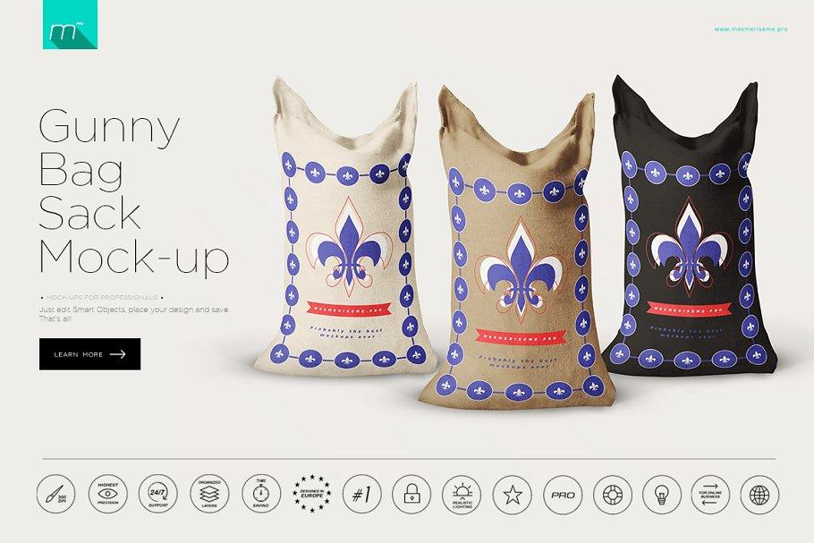 Gunny Bag Sack Mockup Creative Product Mockups Creative Market