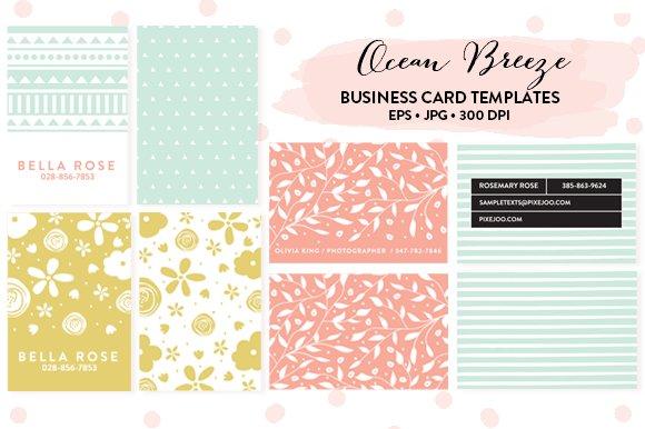 6 business card templates business card templates creative market flashek Choice Image