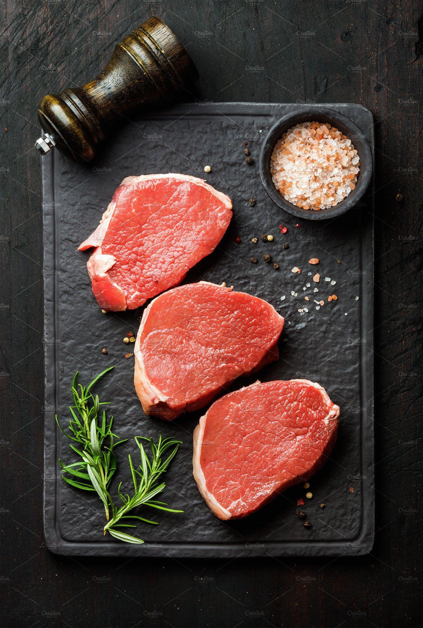 Raw Beef Eye Round Steaks Food Amp Drink Photos Creative