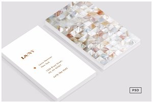 Mother of Pearl Business Card