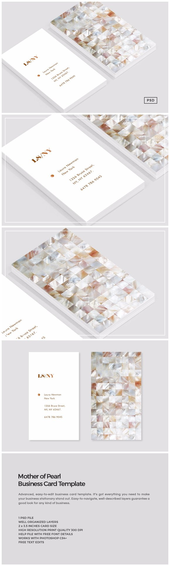 Mother of Pearl Business Card ~ Business Card Templates ~ Creative ...