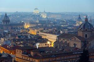 Rome City evening view