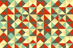 Triangles in retro colours