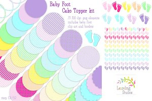 Baby Foot cake topper/craft kit