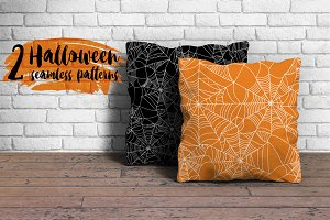 2 Halloween Seamless Patterns