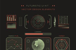 UI hud infographic interface vector