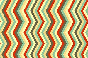 Zigzag stripes in retro colours