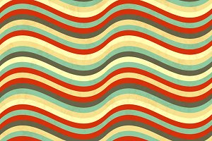 Wavy stripes in retro colours