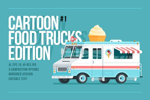 Cartoon Food Truck - Ice cream