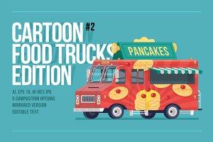 Cartoon Food Truck - Pancakes