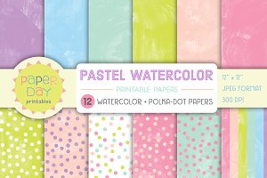 Pastel Watercolor Paper Pack