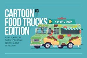 Cartoon Food Trucks - Falafel shop