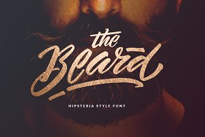 The Beard - Branded Typeface +Extras