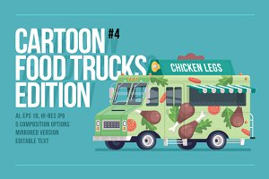 Cartoon Food Trucks - Chicken