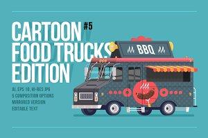 Cartoon Food Truck - Barbecue
