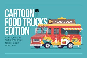 Cartoon Food Truck - Chinese Cuisine
