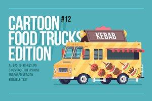 Cartoon Food Truck - Kebab